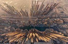 Dubai never ceases to impress, but this aerial shot of the skyline by AirPano shows the ci...