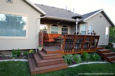Beautiful back deck refurbish #deck #wood_stain