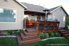 Beautiful back deck refurbish #deck #wood_stain