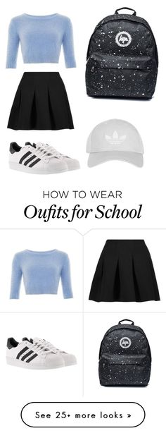 """""""Casual and Classy """" by emma-hughes333 on Polyvore featuring Collectif, T By Alexander Wang, adidas and Topshop"""