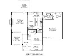 "House Plan 2168-A CEDAR CREEK 1ST FLOOR - 2168 Square Feet 52'-8"" wide by 40'-0"" deep 3 Bedrooms/2-1/2 baths Open Living and Dining Optional Bonus Room 2-Car Garage"