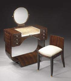 A superb and rare vanity by Émile-Jacques Ruhlmann, circa 1925. Image source: Sotheby's