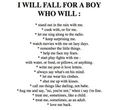 Quote with picture about I will fall for a boy who will do these on SayingImages.com