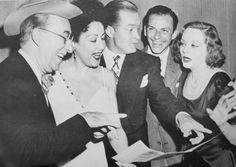 Ed Wynn, Ethel Merman, Bob Hope, Frank Sinatra and Tallulah Bankhead