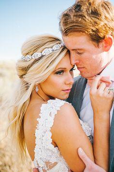 Lovely half-up, half-down wedding hair inspiration   Photo Credit: Nhiya Kaye Photography / Beauty: Syna Harris's Home Salon