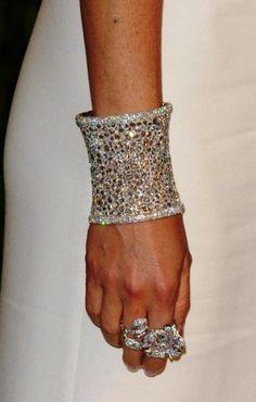 wow ... amazing all diamond; gold cuff & rings <3