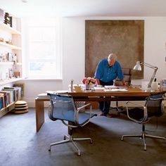 sir terence conran's relaxed and intimate home office.  photo by paul massey.
