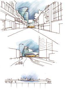 Greenwich Concept Design Sketches by Gustavo De Macedo, via Behance
