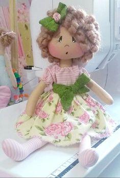 Animal Sewing Patterns, Doll Patterns, Knitted Dolls, Felt Dolls, Food Pillows, Sewing Dolls, Cute Dolls, Fabric Dolls, Handmade Toys