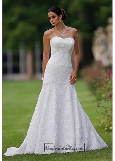 Beautiful Elegant Lace A-line Sweetheart Wedding Dress In Great Handwork