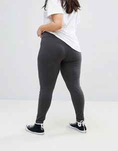 New Look Curve High-waisted Leggings - Gray