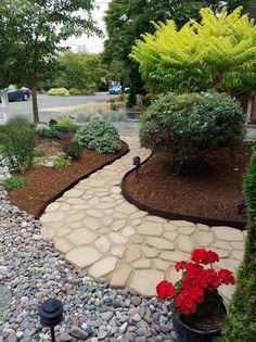 Quikrete 2 in. x 24 in. x 24 in. Country Stone Walk Maker 692132 at The Home Depot - Mobile Landscaping With Rocks, Front Yard Landscaping, Backyard Landscaping, Landscaping Ideas, Mulch Ideas, Arizona Landscaping, Inexpensive Landscaping, Country Landscaping, Home Depot Landscaping