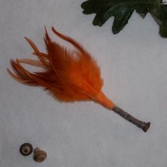 Orange Feather Broom- Incense Wafting Broom- Smudge Wand/Broom for Magic Altars/ Altar Broom by SilverswansEmporium on Etsy https://www.etsy.com/no-en/listing/242689263/orange-feather-broom-incense-wafting