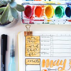 4 Easy Watercolor Techniques for Your Bullet Journal