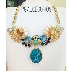 PG #pgaccesorios #chapadeoro #goldplated #collar #necklace #handmadejewerly #hechoamano #joyeria #diseñomexicano #losmochis #druzy #unico