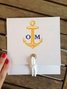 Invitación boda marinera