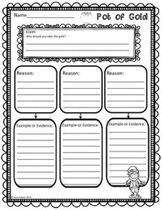 Trick the Leprechaun! by Teresa Kwant Opinion Writing, Persuasive Writing, Writing Prompts, Writing Outline, St Patrick Day Activities, Rough Draft, Fifth Grade, Writing Activities, Graphic Organizers