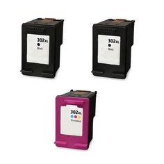 HP 302XL PACK 2UD NEGRO +  1UD TRICOLOR