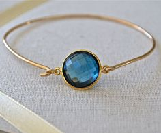 Topaz London Blue AAA Grade 14k Gold Filled by JLaurynDesign, $69.00