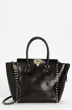 Valentino 'Rockstud - Small' Textured Leather Tote available at Nordstrom