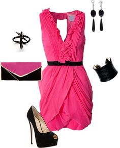 """""""Pink Black"""" by zoe-nicole on Polyvore"""