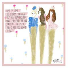 """Fashcom on Instagram: """"Yummy love... #love #icecream #flavors #comic #fashioncomic #fashionart #fashcom #fashcomgirls #fashionblogger"""""""