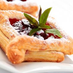 Puff Pastries with Pastry Cream and Fruit Compote