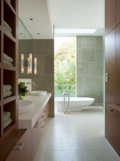 Bathroom Design - love the indoor/outdoor feel