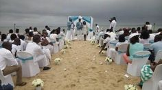 WELCOME TO DEBBYS COT    : COUPLE TIE THE KNOT AT ONIRU  PRIVATE BEACH IN LAG...