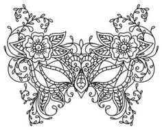 Mask of Nature | Urban Threads: Unique and Awesome Embroidery Designs