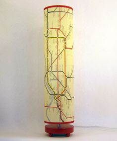Items similar to London Map Lamp in telephone box red, or wood on Etsy Little Britain, Map Projects, Map Globe, London Map, Catch App, Cozy Nook, London Underground, Cartography, Map Art