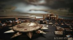 Game of Thrones .... uses 3D animation to have the map of westeros and its cities, build up like clockwork. seems mechanical. good link between audio and video.