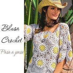 Blusa para tejer al Crochet / Paso a paso en Español