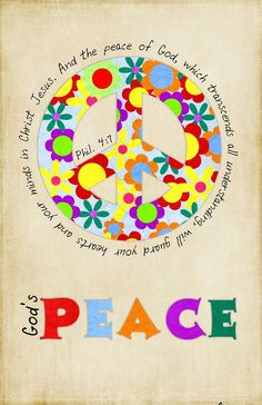 God's Peace art canvas in primary colors by jtdesignsprinting, $43.00