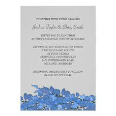 Blue Leaves Wedding Invitations