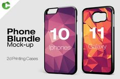 Phone Bundle - Printing Cases by colatudo store on Creative Market Billboard Signs, Mockup Templates, Box Mockup, Design Templates, S5 Mini, Free Fonts Download, Free Photoshop, Macbook, 2d