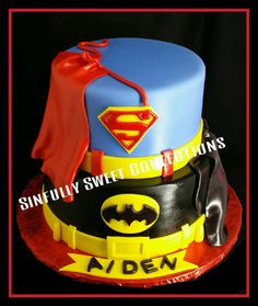 Superman Vs Batman Birthday Cake