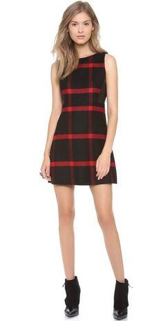 Love this!!  alice + olivia Jolie Leather Side Dress | SHOPBOP