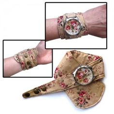 Vintage Rose Watch Fabric Watch by ZIZWatches on Etsy, Rose Watch, Unusual Watches, Telling Time, Soft Summer, Beautiful Watches, Vintage Roses, Bracelet Watch, Jewels, Unique Jewelry