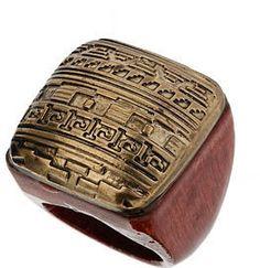 #us.missselfridge.com     #ring                     #Gold #Aztec #Ring #Accessories                     Gold Aztec Ring - Accessories                                                 http://www.seapai.com/product.aspx?PID=1002367