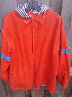 OILILY Jacket Womens Big Girls Size 164 Traffic Safe Orange Hooded Coat Safety #Oilily #BasicJacket #Everyday
