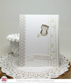 Katie Gehring for Avery Elle Woodland Wonders Clear Stamp Die: Woodland Wonders Elle-ments Die: Pierced Banner Layers Elle-ments The Neutral Collection Paper Pad The Midnight Collection Folded A2 cards