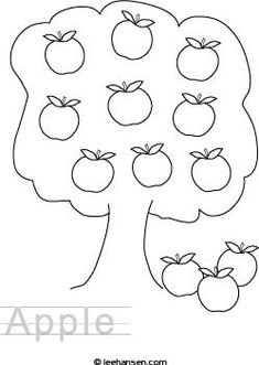 Apple activity worksheet printable