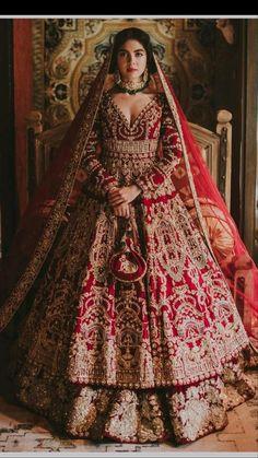Desi Wedding Dresses, Asian Bridal Dresses, Indian Bridal Outfits, Pakistani Bridal Dresses, Nikkah Dress, Wedding Wear, Dress Indian Style, Indian Fashion Dresses, Indian Bride Dresses