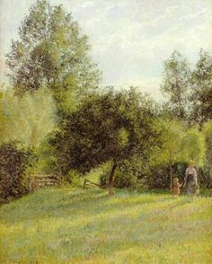 カミーユ・ピサロ作「林檎の木」(1896年)