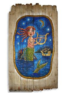 Mermaid/Siren singing to lure sailors moored in Table Bay – Cape Town – South Africa Cape Town South Africa, African Design, Recycled Wood, Nautical Theme, Naive, Sirens, Unique Gifts, Concept, In This Moment