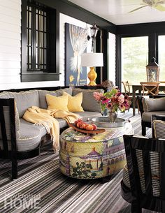Casual seating I love the ottoman. Pinned By Vicki Visel Florido.