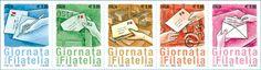 Emissione di cinque francobolli celebrativi della Giornata della filatelia