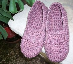 FREE pattern: Crocheted moccasin