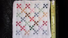 Excited to share the latest addition to my #etsy shop: Miniature Quilt, Miniature Cross Stitched Quilt, mini quilt, mini cross stitched quilt, mini stitched quilt, mini quilt with cross stitch https://etsy.me/2xJpOe7 #toys #crossstitch #crossstitching #miniquilt #minis
